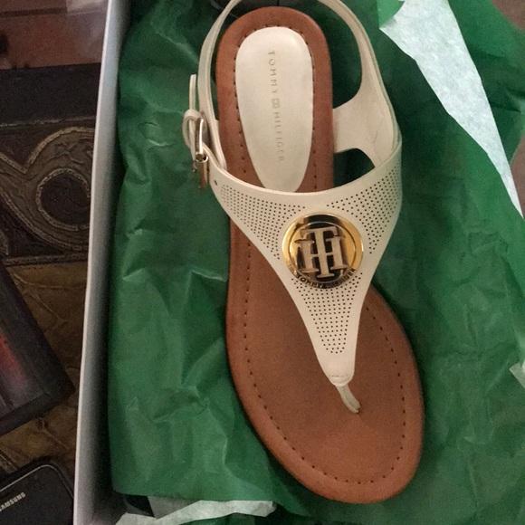 fc5e0a1d44 Tommy Hilfiger Shoes | Nwt Size 7 Mandes Thong Sandals | Poshmark